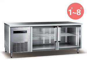 China Refrigerated Work Table For Kitchen 660L Commercial Refrigerator Freezer R134a Fan Cooling supplier
