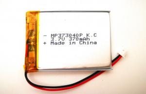 China 353040 370mah 3.7V lithium polymer battery with KC, CB certification for electrical device on sale