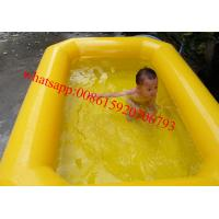double tubes pvc tarpaulin inflatable kids swimming pool for sale
