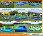 China Heat Sealed Inflatable Swimming Pool Wet Deep Rectangle Pool 0.9mm PVC Tarpaulin wholesale