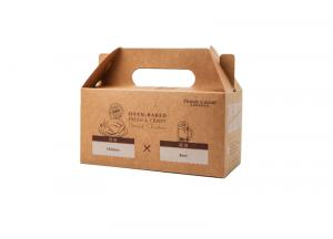 China Product Custom Packaging Boxes Brown Kraft Paper Sweets For Bakery Chicken on sale