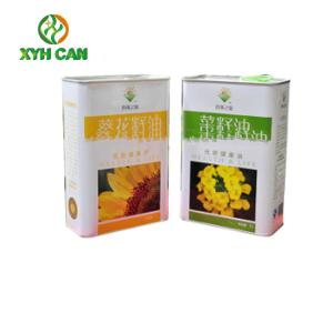 China 3 Liter Rectangular Metal Tins Food Can Packaging Using For Peanut Oil on sale