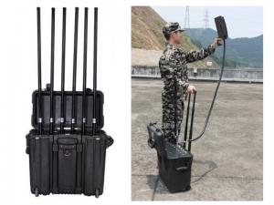 China High Power Long Range Drone Signal Jammer For Home With GPS 2.4G / 5.8G Jamming on sale