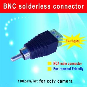 China RCA Male connector RCA plug to screw terminal for CCTV Camera cctv camera accessory on sale