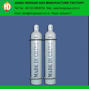 China sulphur hexafluoride msds/ SF6 gas 99.999% SF6 gas on sale