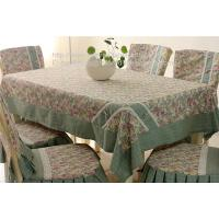 Tailor made outdoor event rosset table cloth with border and chair cover set,