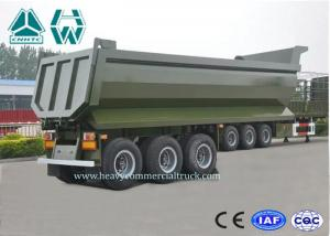 China U Shape Aluminium Dump Truck Trailer 40 Ton 25 CBM Heavy Duty High Intensity on sale