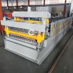 Powerful PPGI Double Layer Profile Roof Tile Roll Forming Machine