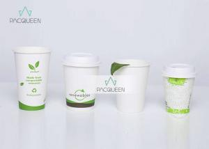 China Biodegradable 4 oz - 22oz Compostable Paper Cups Eco Friendly Food Grade Ink Printing on sale