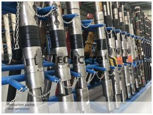 China Oil Well Completion Tools Dual String Production Packer Alloy Steel 9 5/8 Casing on sale