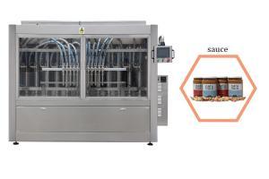 China 100-1000ml Hot Sauce Bottling Machine Panasonic Servo Motor Driven on sale