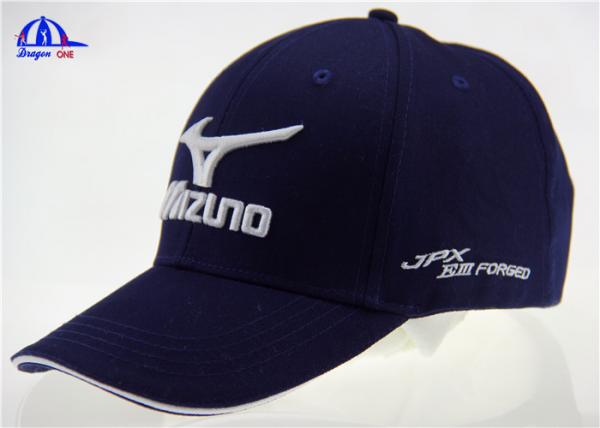 630b52c88b0 6 Panel Cotton Custom Embroidered Hats Golf Baseball Cap With Mizuno Logo  Images
