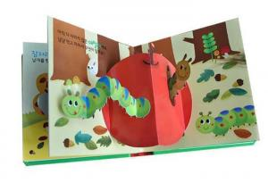 China Sound Music Pop Up Children Books Printing Service with Cardboard 3D Printing on sale