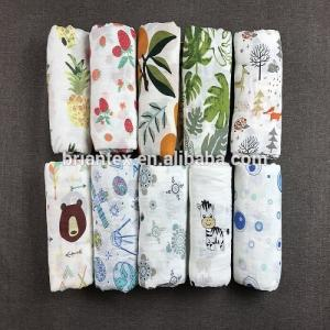 China 100% cotton muslin swaddle blanket baby infant swaddle cheap receiving blanket on sale
