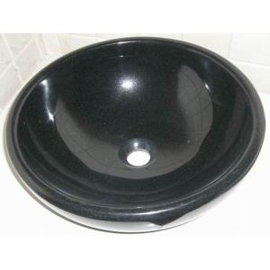 China Lavabo de alta calidad natural del granito del negro de Shanxi on sale
