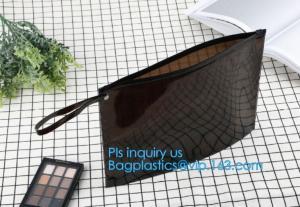 China ziplock bag with handle & slider, reclosable pvc clear plastic slider ziplock bag, Reusable slider white small nylon cle on sale