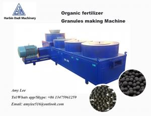 China New type 2 Ton / hour Ball shape organic fertilizer granules making machine on sale
