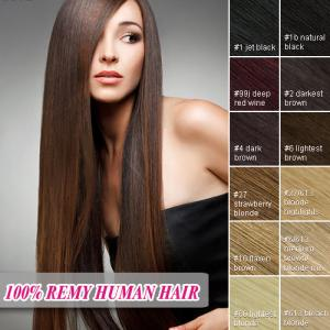 China 100% remy hair extensions 8pcs clip in human hair extension on sale