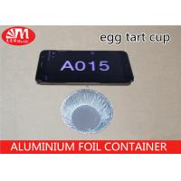 China A015 Aluminum Foil Container Small Round Dish  Egg Tart Cup 6.6cm x 6.6cm x 1.9cm 36ml volume on sale