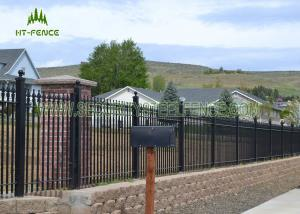 12m Height Flat Top Steel Pool Fencing For Pool Security Protection