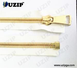 China Fashion Accessories Bottom Separating 15 Metal Zipper Gold Teeth forJacket on sale