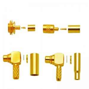 China Factory price 50ohm plated gold Coaxial mcx straight rf coaxial connector for rg174 cable on sale