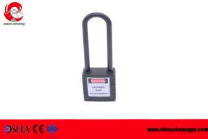 China ZC-G35L High security 76mm Nylon shackle safety warning lockout padlock on sale