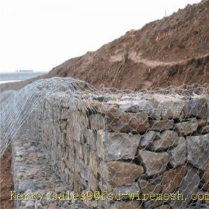 China Galvanized stone cage on sale