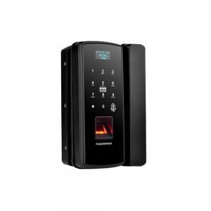 China Smart Security Cheap Plastic Digital Fingerprint OLED Glass Sliding Door Lock on sale