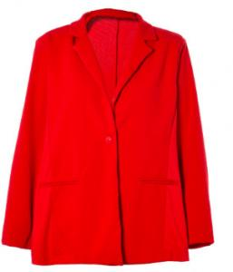 China 2020 Red Color Ladies Formal Blazers Winter Blazer Jacket Turn Down Collar on sale