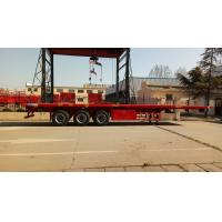 Cargo Container Platform Semi Trailer With Howo Heavy Duty Chassis And Twist Locks
