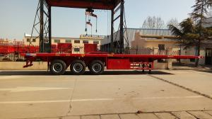 China Cargo Container Platform Semi Trailer With Howo Heavy Duty Chassis And Twist Locks on sale