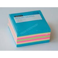 China Three Neon color sticky note cube sticky memo pad  3X3 inc for office assistant school business famaily on sale