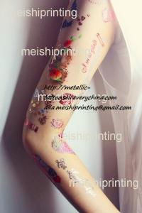 China colored body art tattoo, water transfer tattoo,fashion art tattoo, flowers and wings on sale