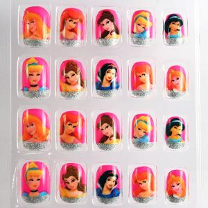 China Barbie Doll French Manicure Fake Nails Art Tips For Childrens on sale