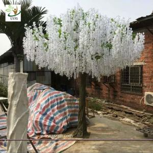 China UVG large outdoor artificial trees in wisteria flower wedding and party planner decoration on sale