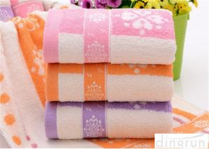 China Fashionable Home Spa Towel Dye Yarn , Face Wash Cloths Durable on sale