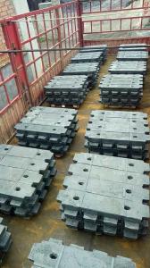 China Oil Rig Platforms Explosion-proof Kone Elevators Parts Grey Iron Filler Balance Block 31LB on sale