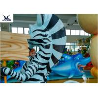 China Life Size Amusement Park Customized Cute Cartoon Fiberglass Animal Zebra Statues on sale