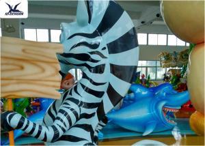 China Life Size Amusement Park Customized Cute Cartoon Fiberglass Animal Zebra Statues on sale