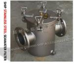Main component materials for AS100 CB/T497 stainless steel straight-through suction coarse water filter