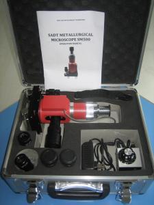 China Monocular Portable Metallographic Microscope SM500 100x - 500x 6V 15W Illuminator with PC on sale