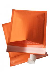 China Orange Kraft Bubble Mailer Envelopes Colored Self Seal Padded Shipping Bag on sale