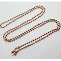China Fashion 316L Stainless Steel Glass Floating Locket Chain GLC012-Ball Beads Chain on sale