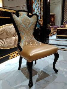 China Modern Dining Chair Chinese Dining Chair Genuine Leather Dining Chair Leather Dining Chair on sale