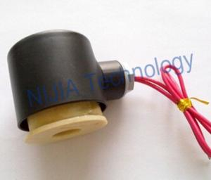 China 24V -380V Water Solenoid Valve Coil with Black Iron Cover for 2/2 Way Solenoid Valve on sale