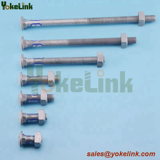 Carbon steel galvanized carriage bolt 3/8