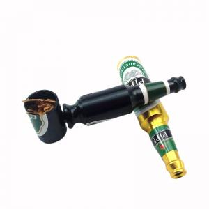 China Mini Beer Smok Metal Pipes Portable Creative Smoking Pipe Herb Tobacco Pipe Gift Hookah Narguile Random on sale