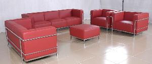 China Leather Sofa (Le Corbusier Grande Sofa LC3) on sale