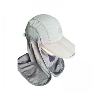 China UV Protection Womens Camping Hats Quick Dry With Face Mask And Neck Cover on sale